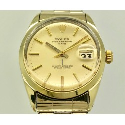 Rolex Oyster Perpetual Date 1550 34mm Laminated Gold/Rare Yr: 1973