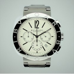 Bulgari BB42SSCH 42mm White Dial w/ Box&Papers