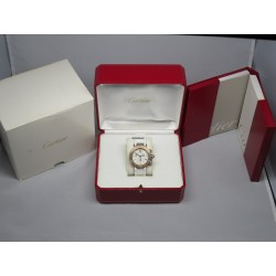 Cartier Ladies Pasha 3129 Seatimer Chrono White Rubber Box Papers
