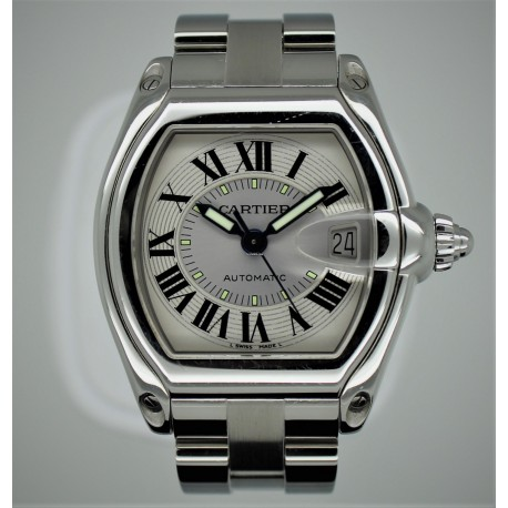 Cartier Roadster Roadster 2510 37mm White Dial w/ Box&Papers