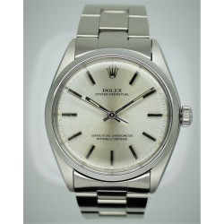 Rolex Oyster Perpetual 1002 34mm Silver Dial Vintage Yr: 1983