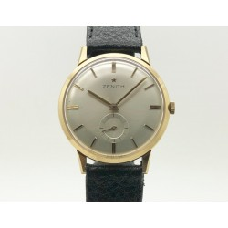 Zenith Vintage 35mm White Dial / 18kt Gold- Manual Winding Yr: 1970