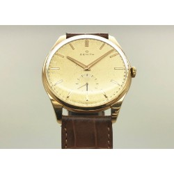 Zenith Vintage 35mm Aged Dial / 18kt RGold- Manual Winding Yr: 1956