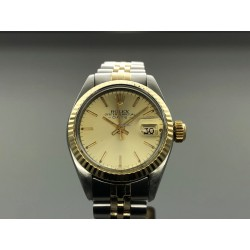 Rolex Lady-Datejust 6917 26mm Gold Dial/18kt Yr: 1973