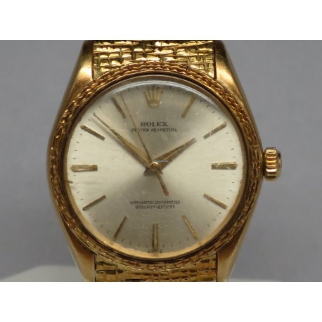 Rolex Vintage Oyster Perpetual 1028 Yellow Gold 34mm